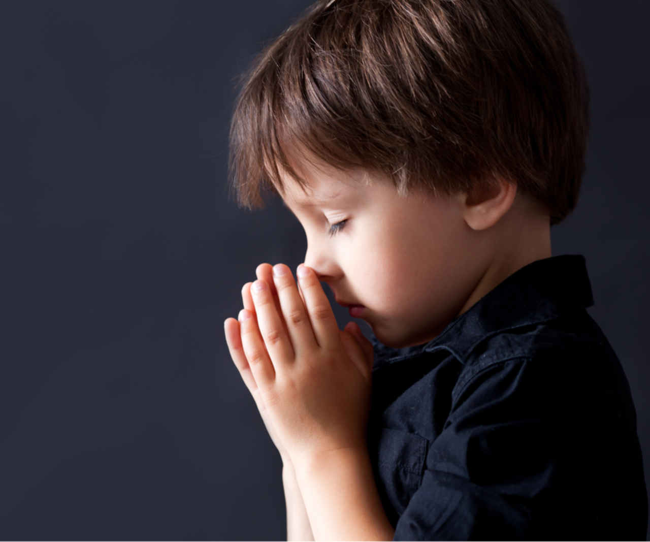 Children's ministry, little boy praying