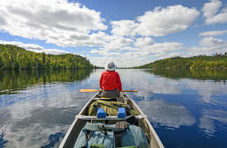 Enjoying the wilderness by canoe