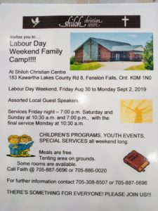 Shiloh Family Camp Poster